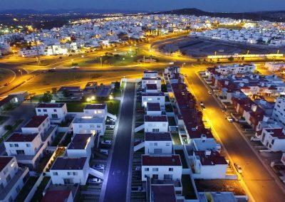 Drón foto noche